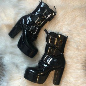 Hot Topic 3 Buckle Fetish Dring Boots 8